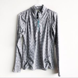 Athleta Gray Mendoza Space Dye Zip Pullover